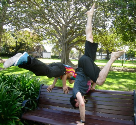 GALLERY - SCAVENGER HUNT 2013 - 38. Handbalancing with a park bench